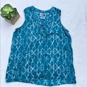 The North Face Large Sleeveless Blue Blouse